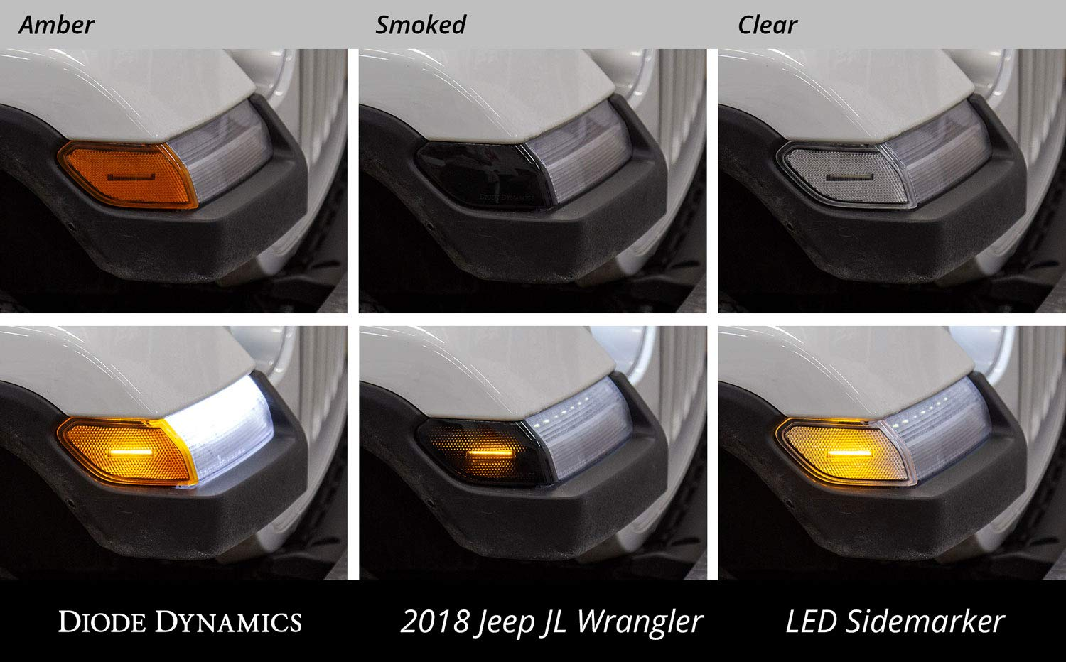 LED Sidemarkers for 2018-2019 Jeep JL Wrangler Smoked set