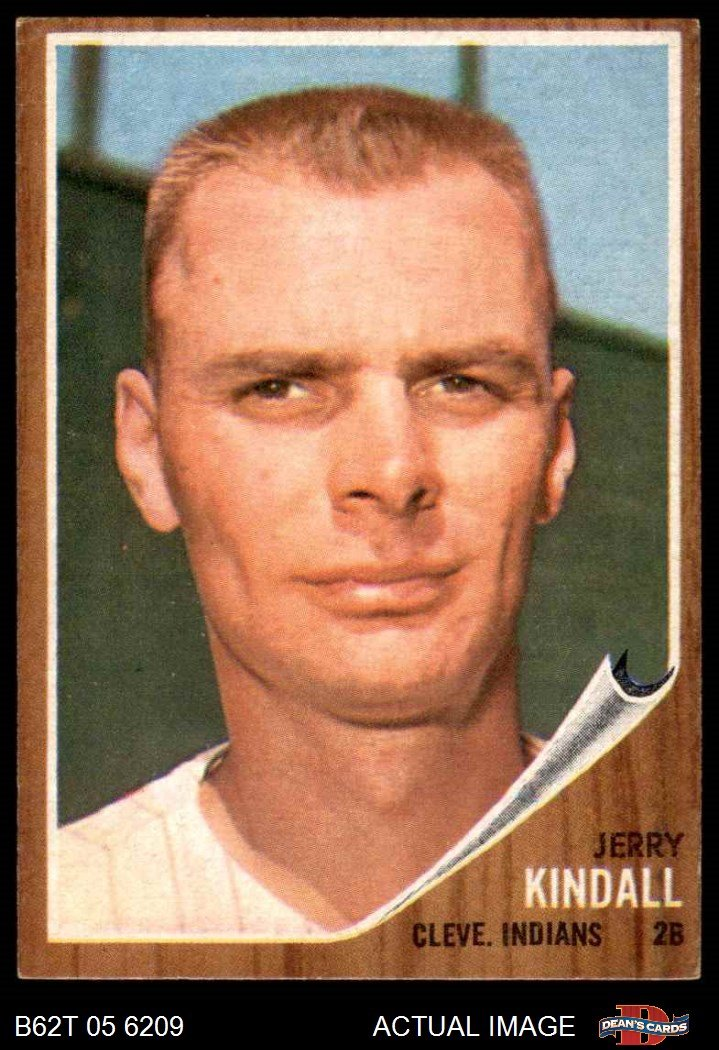 Deans Cards 5 Baseball Card EX Indians 1962 Topps # 292 Jerry Kindall Cleveland Indians