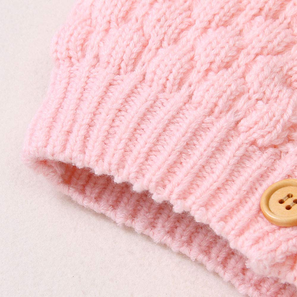 Baby Girl Knit Cardigan Sweater Hoodies Warm Tops Toddler Infant Bear Ear Outerwear Jacket Coat Outfit Clothes