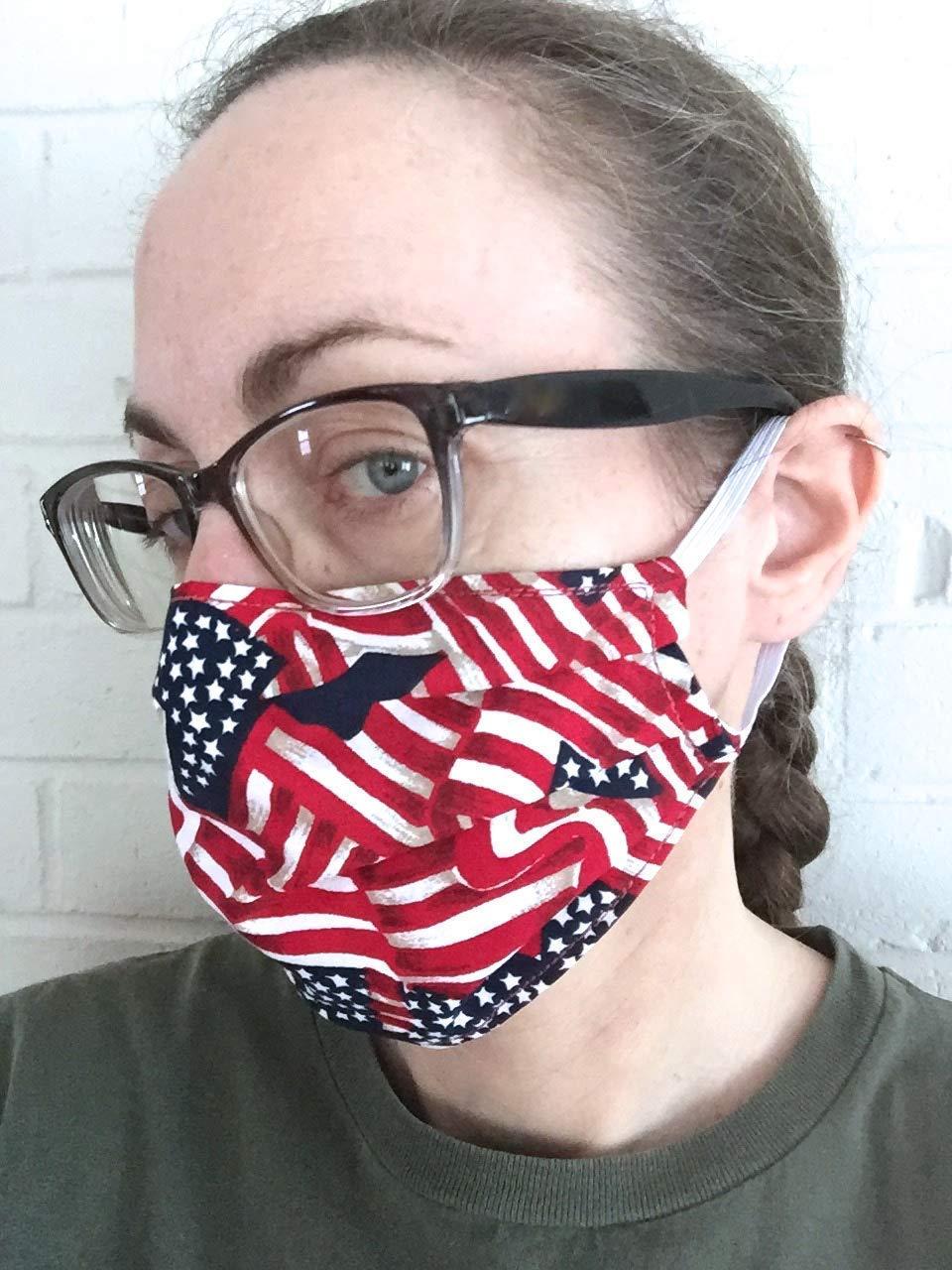 60 América Patriótico Apliques de tela de flores de 4 De Julio//US FLAG//estrella//Rojo//Azul Marino H242