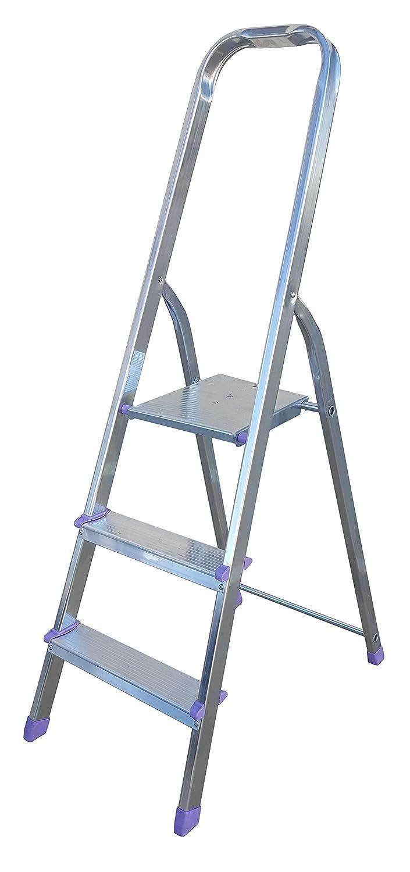 Sicos 139113 Escalera doméstica 3 peldaños (aluminio): Amazon.es ...