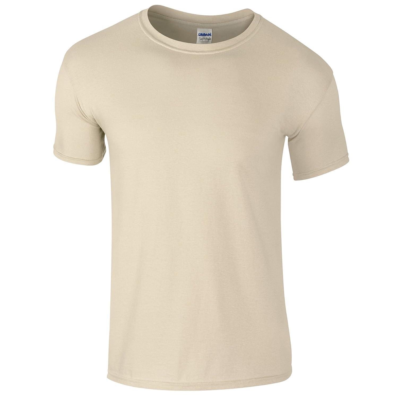 (ギルダン) Gildan メンズ ソフトスタイル 半袖Tシャツ トップス カットソー 男性用 B00AWVVBX2 L|サンドベージュ サンドベージュ L