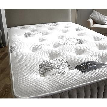 Sonno Comfort Divine gravitex encapsulado 1000 Lujo Bolsillo colchón de muelles con - 4 ft Pequeño Doble: Amazon.es: Hogar