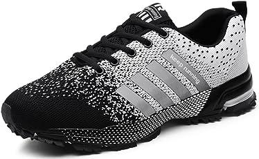 AIRAVATA Zapatillas de Deporte para Hombre y para Mujer Air Cushion Zapatillas de Deporte Ligeras y Transpirables Comfort Sports