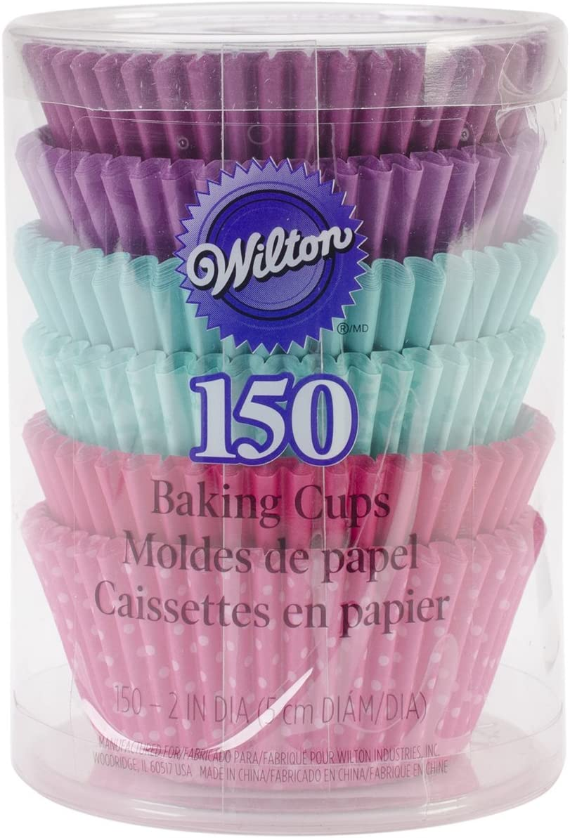 Wilton Baking Cups, Standard, 150-Count, Multi Color