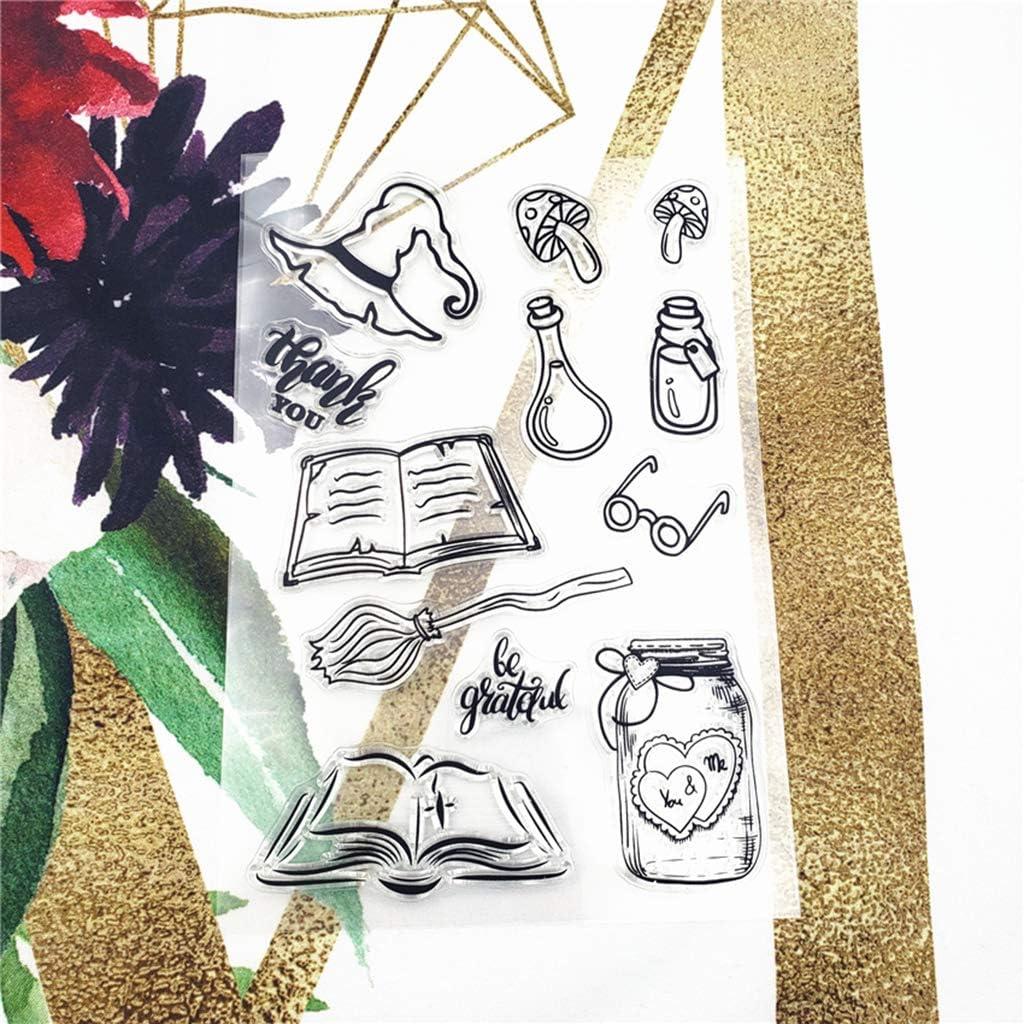 VVXXMO Livre Transparent Tampons DIY Sceau Silicone Timbre pour Scrapbooking Loisirs Cr/éatifs Cadeau D/écoration