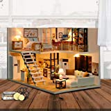 CUTEBEE Dollhouse Miniature with Furniture, DIY