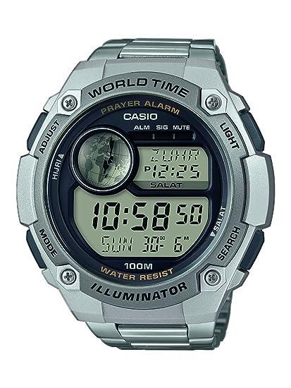 Casio Reloj Digital para Hombre de Cuarzo con Correa en Acero Inoxidable CPA-100D-1AVEF: Amazon.es: Relojes