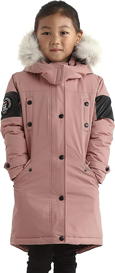 Etecredpow Boys and Girls Winter Light Weight Puffer Hooded Warm Down Coat Jacket