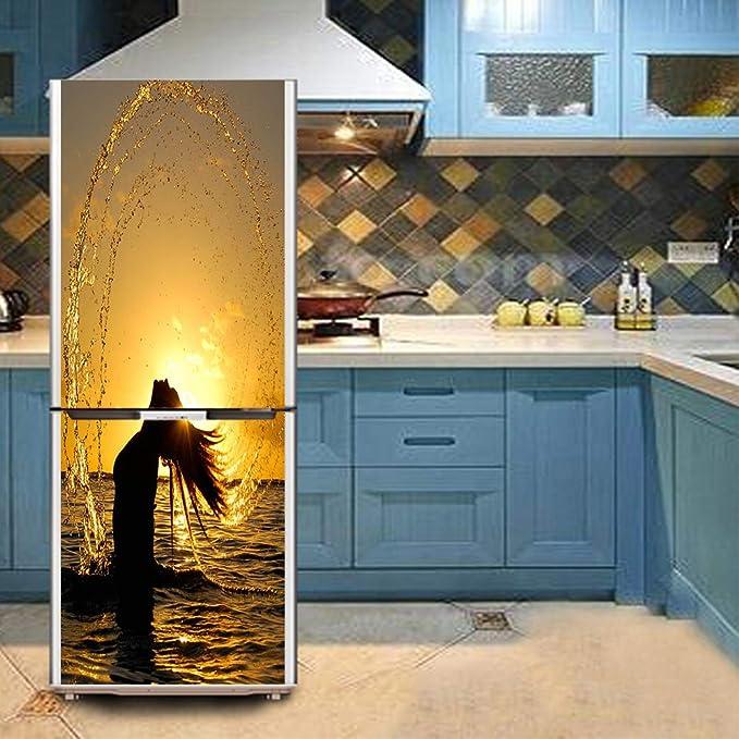 Q&M Reformado Pegatinas Refrigerador Congelador Cocina Decorativo ...