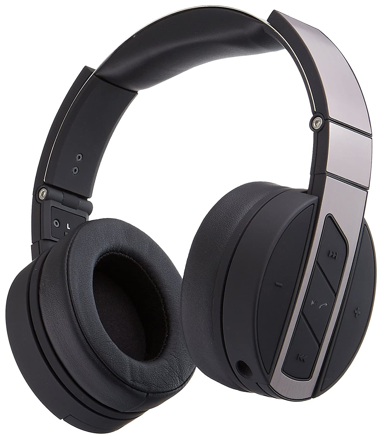 Monoprice Bluetooth Over-Ear auriculares con micrófono integrado - negro/Metal pulido: Amazon.es: Electrónica