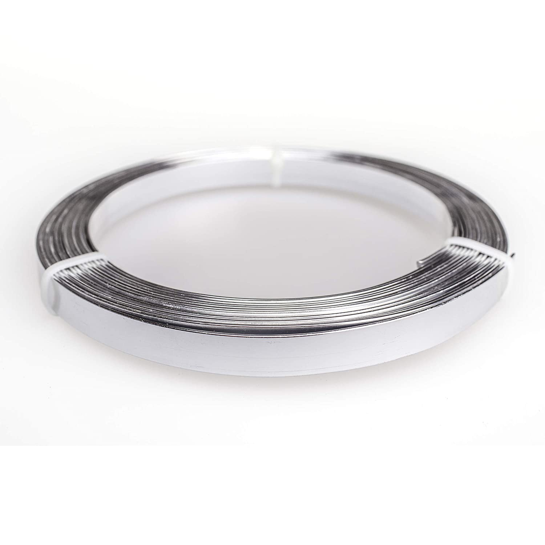 Creacraft Aluminium Flat Wire 1 x 10 mm 5 m Roll