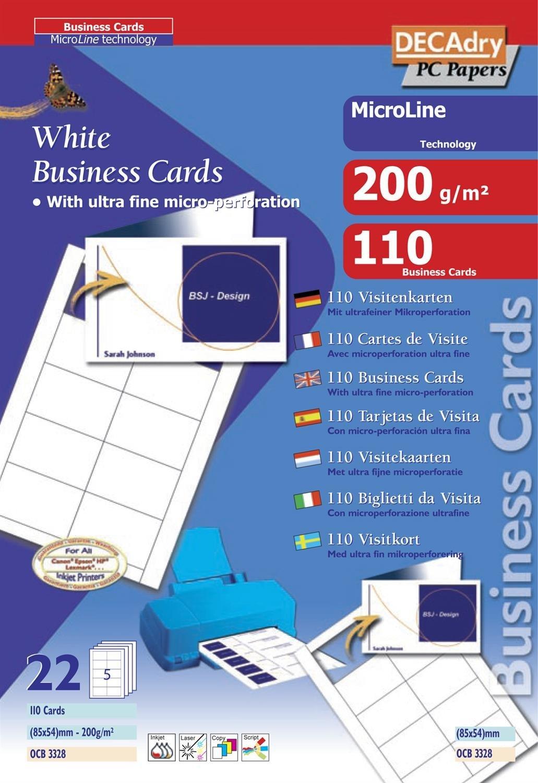 Apli ocb3328 - Juego de 110 cartas doble (85 x 54 mm) color ...