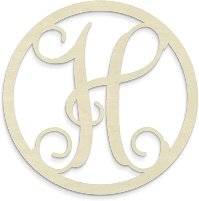 The Best Monogram Letters Wall Decor Circle