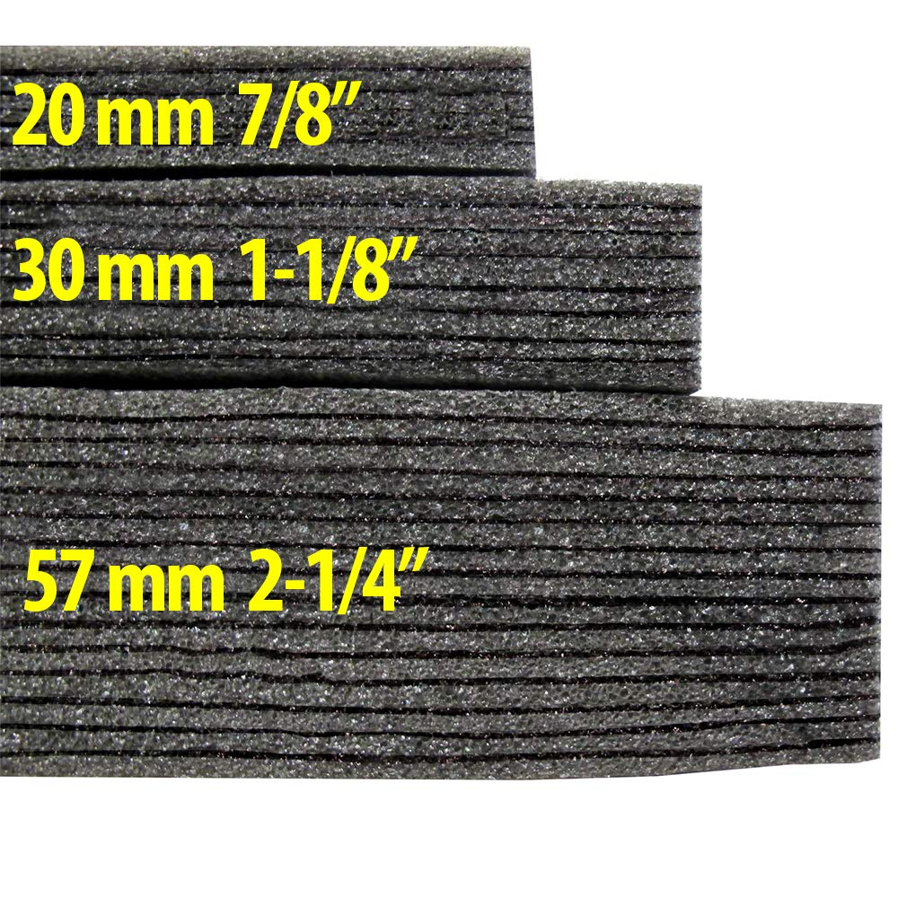Kaizen Foam 2 Feet x 2 Feet, 57mm Thick Color Black