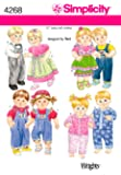"Simplicity Designed by Teri Pattern 4268 Baby Boy and Girl 15"" Doll Clothes"