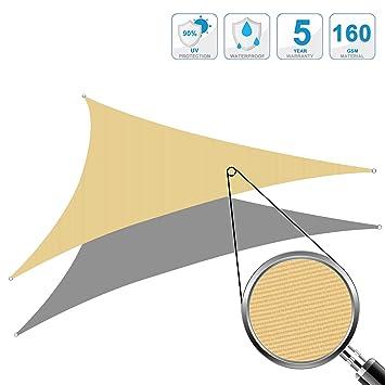Cool Area Voile d\'ombrage triangulaire 6 x 6 x 6 mètres imperméable ...
