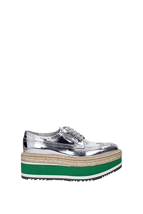 234a6d8f818 Prada Women s Leather Platform Derby Shoes Silver  Amazon.ca  Shoes ...