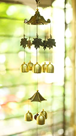 PARADIGM PICTURES Brass Bells Wind Chime (Golden)