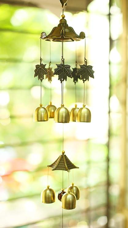 Paradigm Originals Brass Bells Wind Chime For Home Decor Fancy