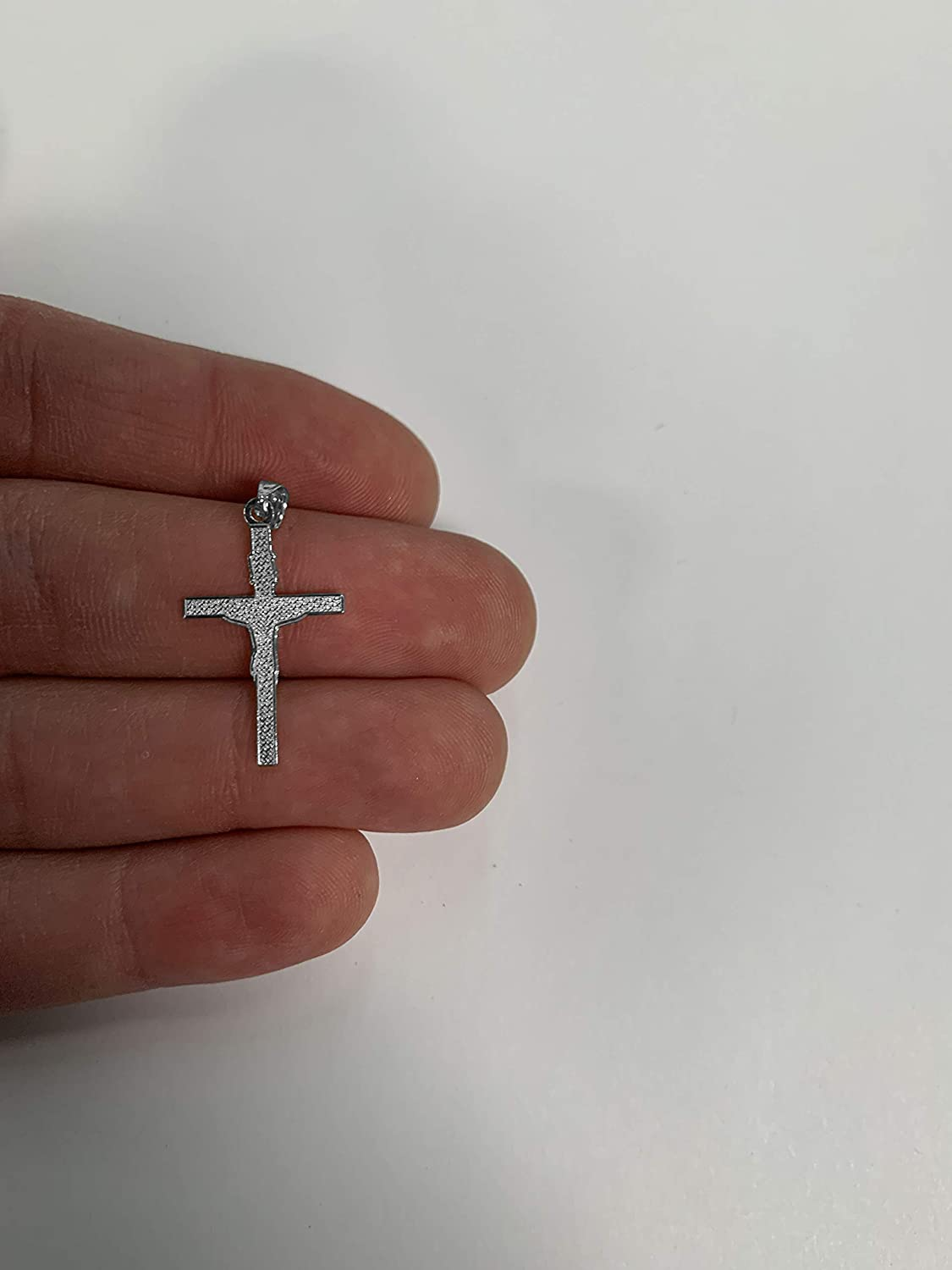 Classic Religious Jesus Piece Jewelry Gifts for Holy Occasions or Everyday Wear 925 Sterling Silver INRI Cross Pendant