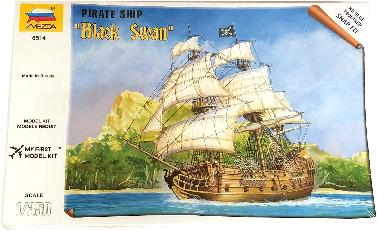 Zvezda Models 1//72 Pirate Ship Black Swan