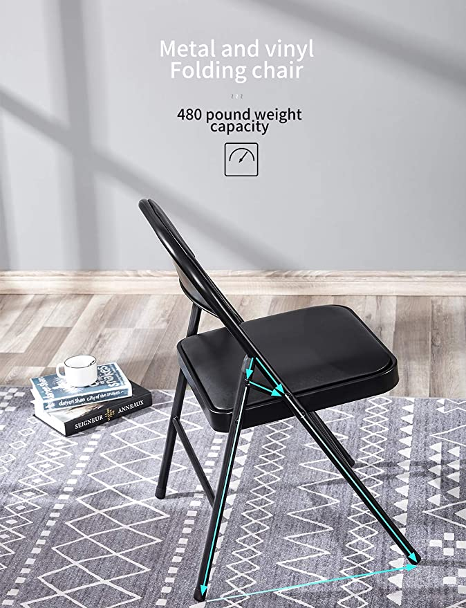 Amazon.com: Kealive Silla plegable con asiento acolchado ...