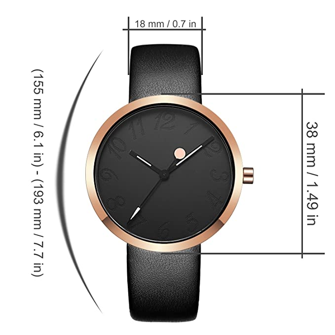 Amazon.com: Watch Womens Ladies Fashion Luxury Dress Analog Watches Black Band Minimalist Quartz Ultra Thin Watch-Black: Watches