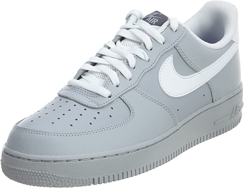 separation shoes 8d85b 190a0 Nike Men s Air Force Low 1 Basketball Shoe Wolf Grey Dark Grey Game Royal