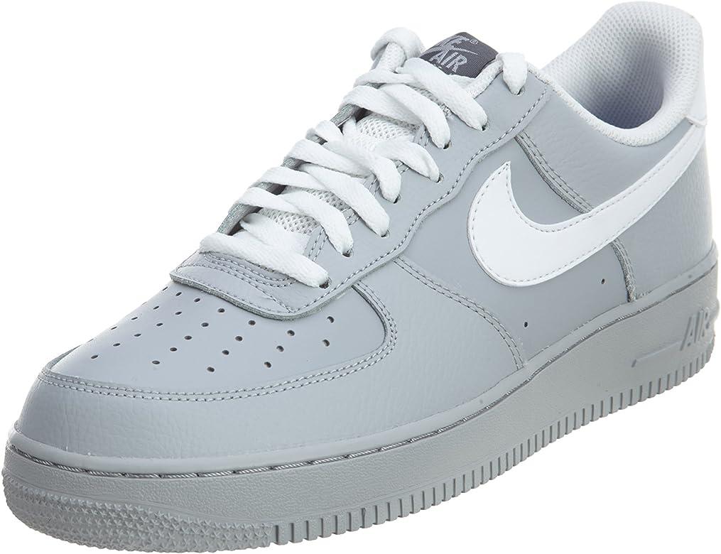6bc95ab2d15e7 Nike Men s Air Force Low 1 Basketball Shoe Wolf Grey Dark Grey Game Royal