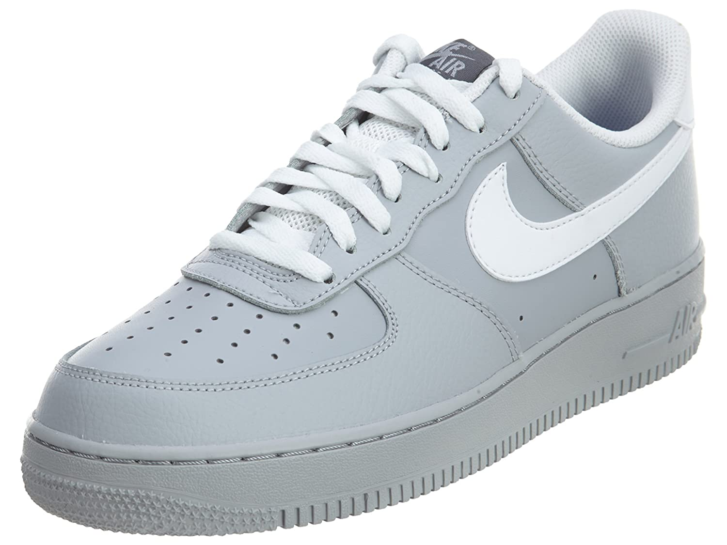 hot sales e95dd 350eb Amazon.com   Nike Mens Air Force Low 1 Basketball Shoe Wolf Grey Dark Grey Game  Royal White 7.5   Team Sports