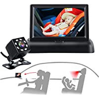 Baby Car Mirror, Car Baby Camera Monitor, Safety Car Seat Mirror Camera with 4.3'' HD, Wide Crystal Clear View, Night…