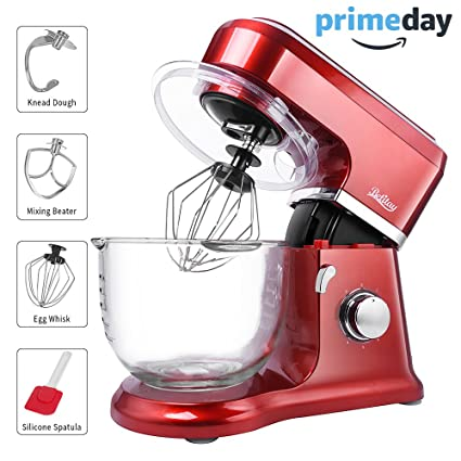 betitay stand mixer 6 speed 45 qt glass bowl visual baking mixer kitchen - Kitchen Mixers