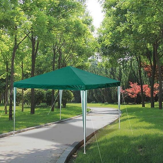 HG 3 x 3 m pérgolas para boda sombría, marquesina toldos Carpa Tienda para playa camping jardín resistente al agua Pavillion, color verde: Amazon.es: Jardín