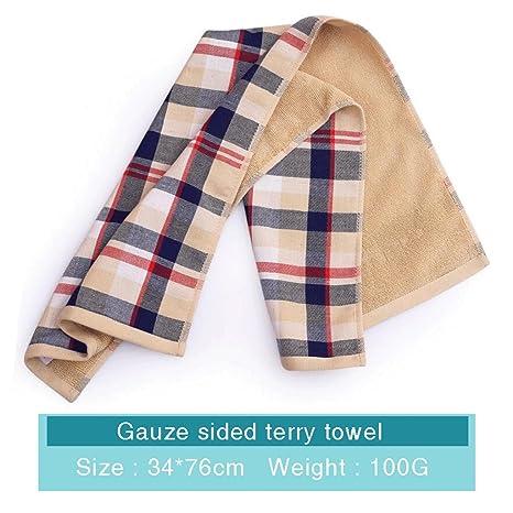 ZLR Toalla de doble cara de gasa de algodón puro Toalla de cara de lavado absorbente