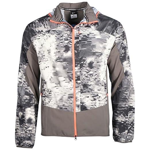 7b33d75eab3c Amazon.com   Nike Men s Packable Printed Trail Kiger Running Jacket ...