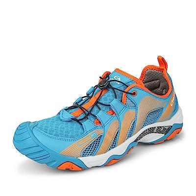 Clorts Men's Water Shoe Lightweight Quick Drying Kayaking Beach Hiking Trekking Walking Sneaker | Water Shoes