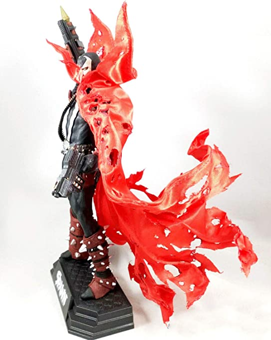 1//12 Scale Rode Custom Deluxe Red wired cape for McFarlane Spawn No Figure
