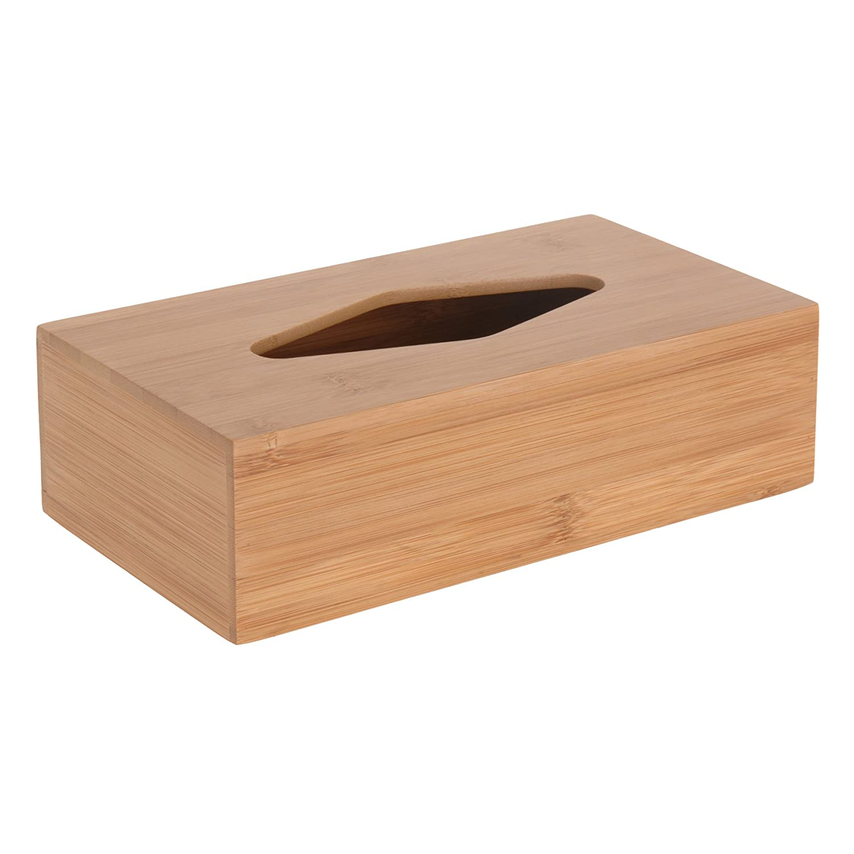 Koopman International Dispenser per fazzoletti in bambù, scatola portafazzoletti Quantio Relaxdays 649901