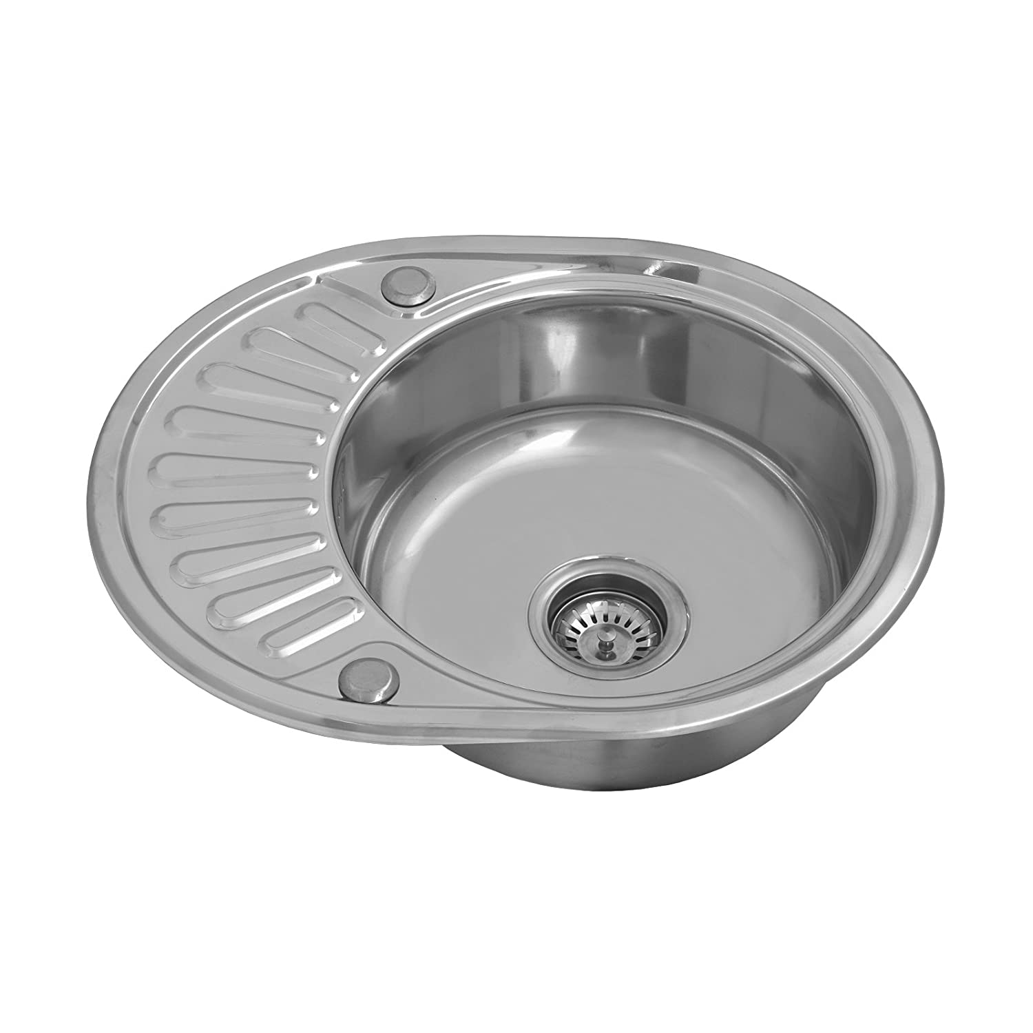 enki pact single 1 0 bowl inset round stainless steel kitchen