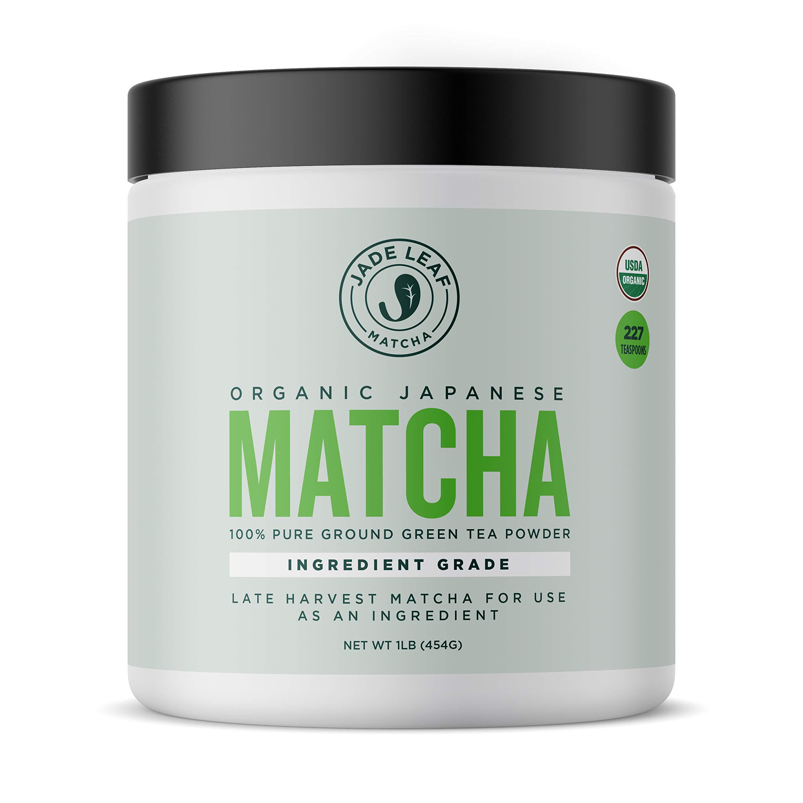 Jade Leaf - Organic Japanese Matcha Green Tea Powder, Ingredient Grade - [1lb Bulk Size] by Jade Leaf Matcha