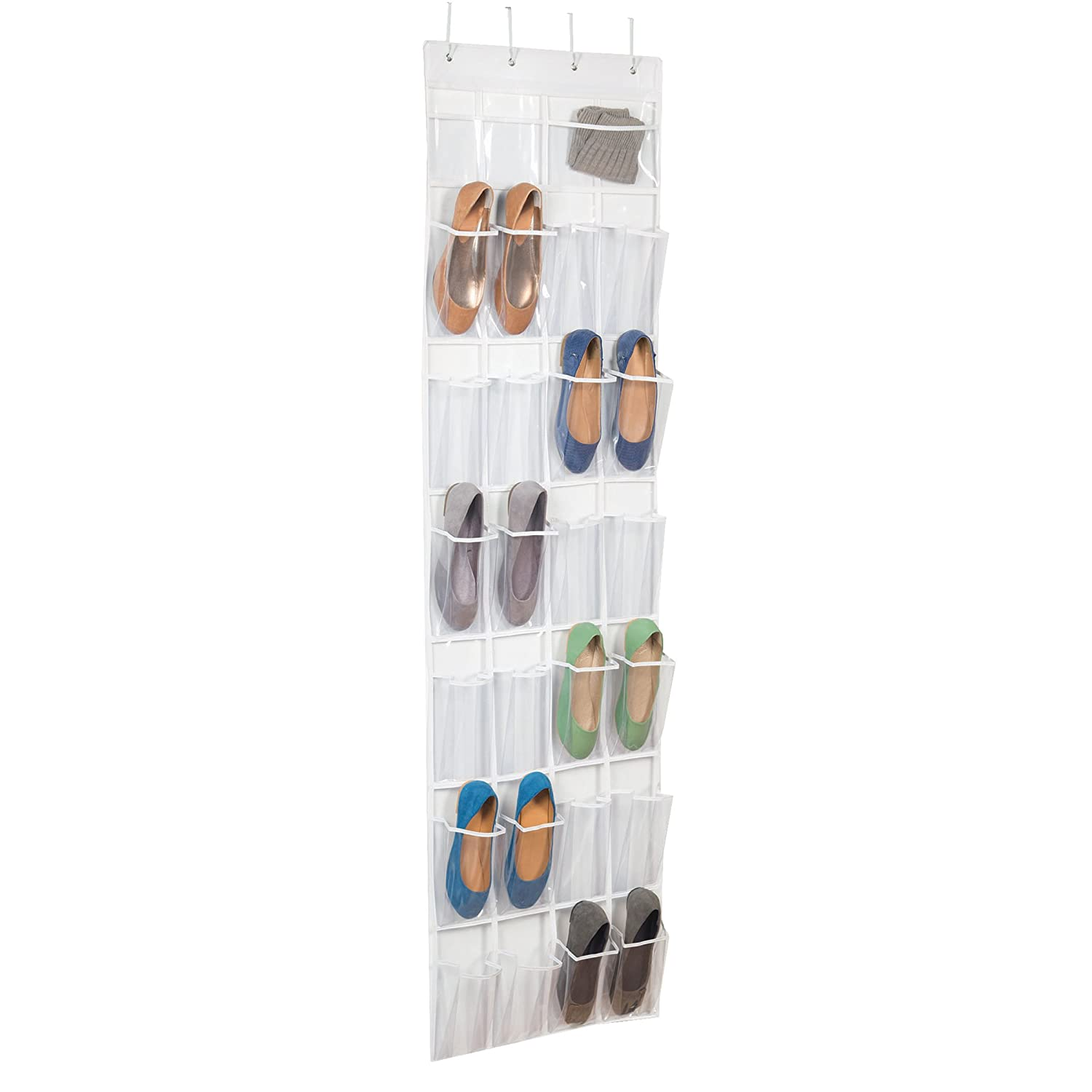Over The Door Clear Shoe Organizer/Storage Rack Richards Homewares 2549W