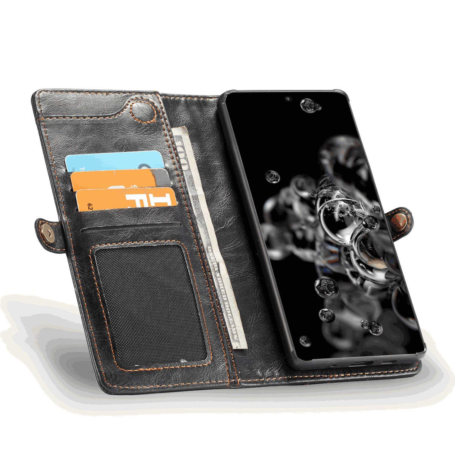 Lanyard Brown Wallet Cover for Samsung Galaxy S20 Plus Leather Flip Case Fit for Samsung Galaxy S20 Plus