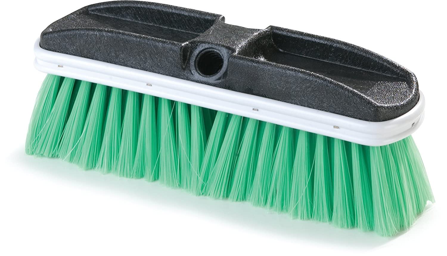 Carlisle 3646875 Flo-Thru Plastic Auto Wash Brush With Flagged Nylex Bristles, 10