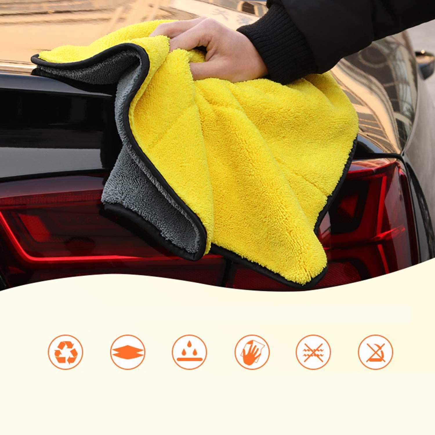 Super Absorbent Car Care Washing Tools Car Washing Microfiber Towel Cleaning Drying Cloth Detailing Towels