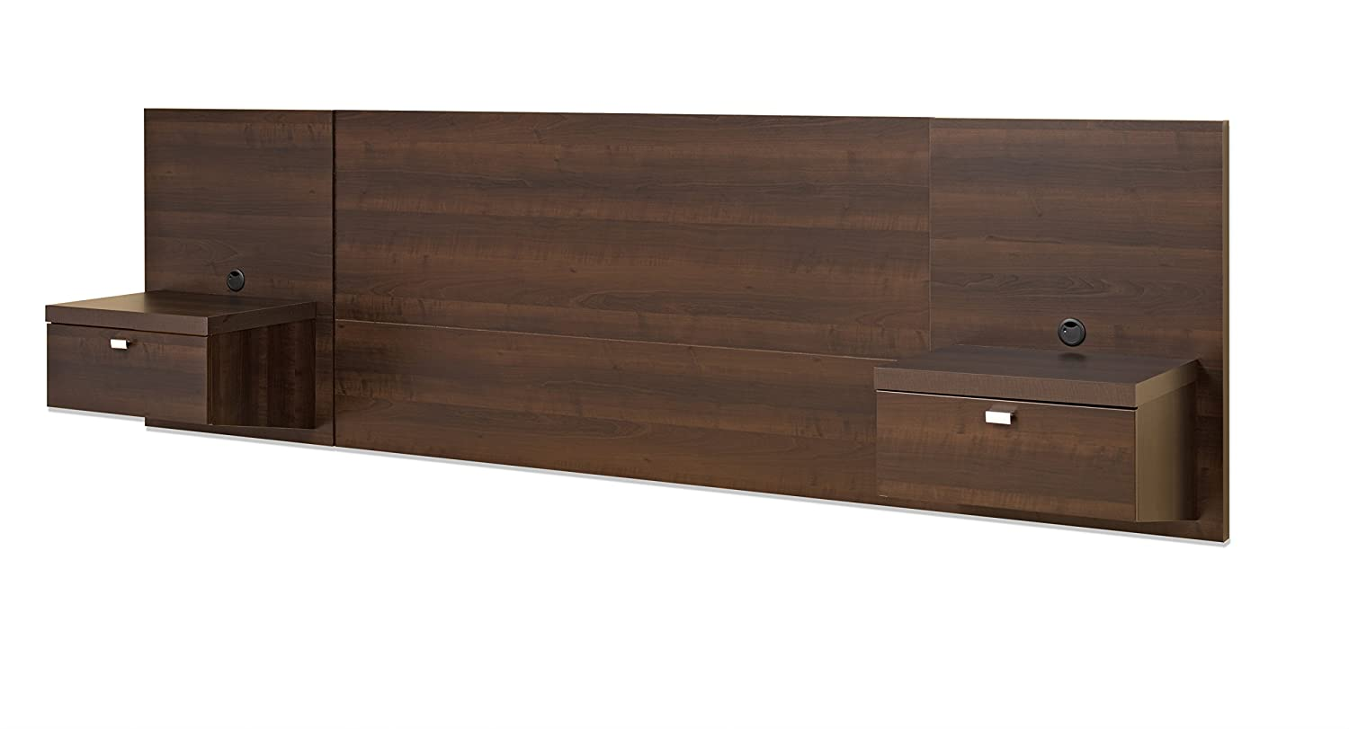 Prepac espresso series 9 wall mounted headboard system with 2 - Amazon Com Prepac Ehhq 0520 2a Series 9 Designer Floating Headboard With 2 Nightstands Espresso Queen