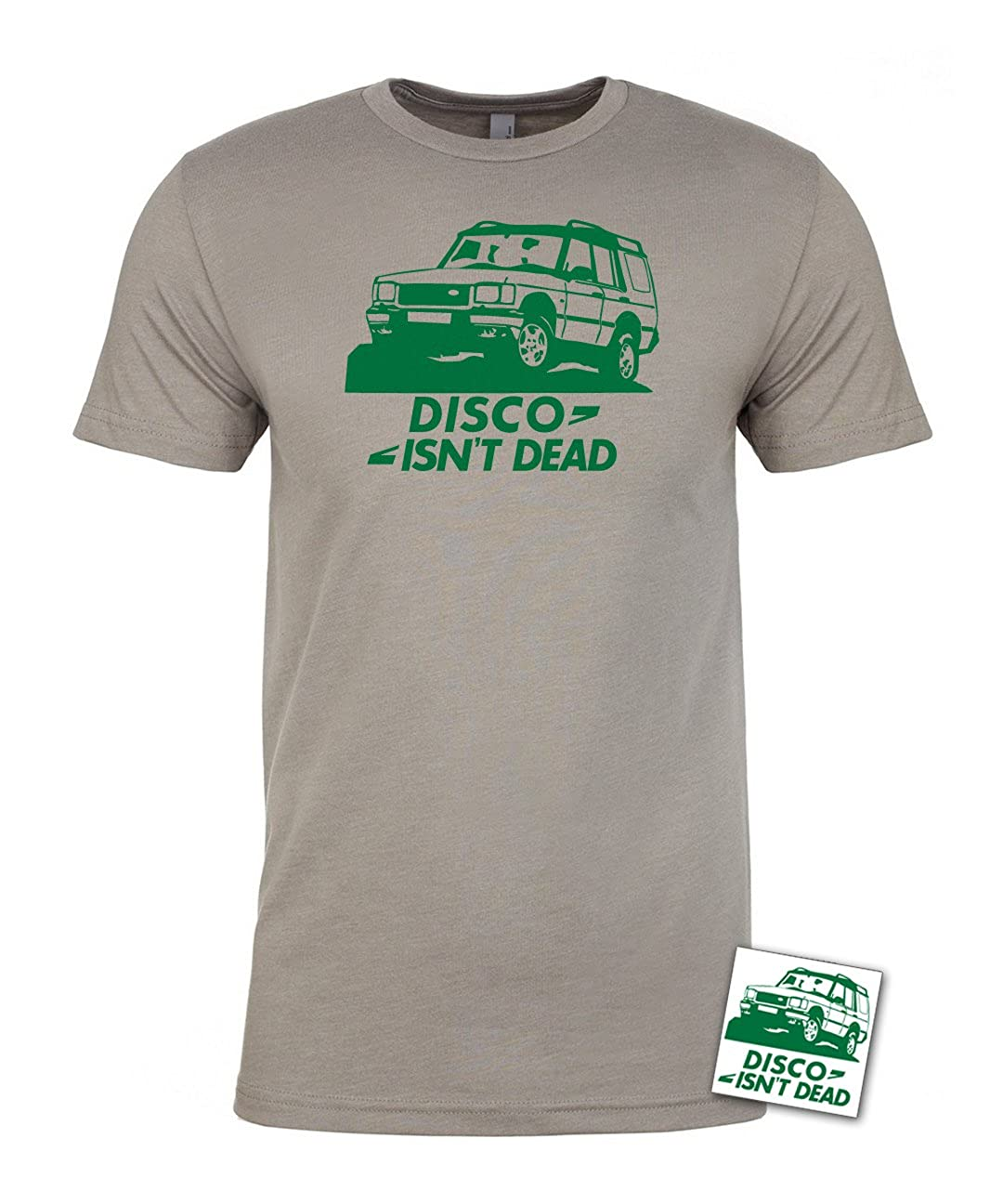 Disco Isnt Dead T-Shirt /& Sticker Land Rover Discovery 4x4 Offroad