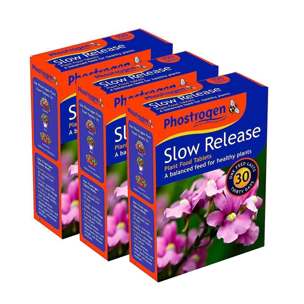 3 Pack Phostrogen Slow Release Food Plant Tablets 300 Tablets - Balanced Feed for Healthy Plants