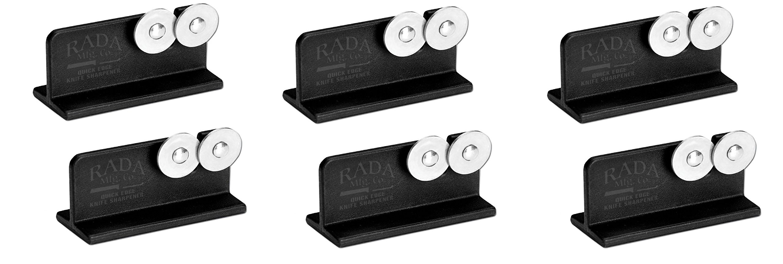 Rada Cutlery Quick Edge Knife Sharpener with Hardened Steel Wheels (Pack of 6 - R119/6)