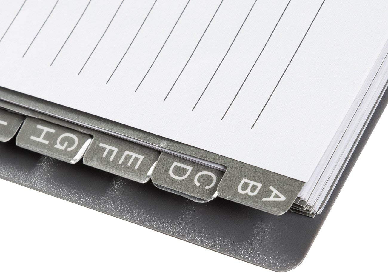 /2-pack internet password giornale per la casa e l ufficio grigio e nero Password Journal/ 80/pagine password di sicurezza 14,7/x 18,5/x 1/cm